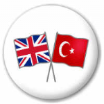 Great Britain and Turkey Friendship Flag 25mm Pin Button Badge